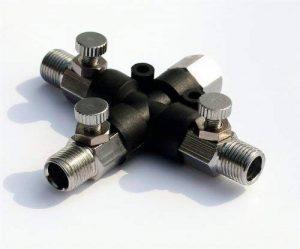 Noir Vendredi Sales abest Airbrush Supply Online Tuyau Joint 3Way Air Spliter Raccord 1/20,3cm avec bouton ajuster Valve de la marque BESTA image 0 produit