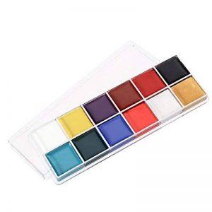 NUOLUX 12 en 1 Flash Visage Corps Peinture Huile Art Maquillage Noël Déguisements Party Palette de la marque NUOLUX image 0 produit