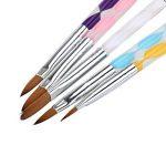 NUOLUX Acrylique Nail Art UV Gel sculpture stylo pinceau poudre liquide bricolage 5Pcs de la marque NUOLUX image 1 produit