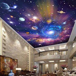 Ohcde Dheark Custom 3D Photo Wallpaper Star Universe Galaxy Prix Faux Plafond Peinture Papier Peint Salon Chambre À Coucher Maison 150cmX105cm(59.1 by 41.3 in) de la marque Ohcde Dheark image 0 produit