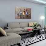 OMGO Dessin D'ornement Tableau Decoration Mural Peinture à l'huile Impression Sur Toile Art Moderne Sans Encadrement Zèbres Multicolore 70*50cm de la marque OMGO image 1 produit