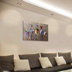 OMGO Dessin D'ornement Tableau Decoration Mural Peinture à l'huile Impression Sur Toile Art Moderne Sans Encadrement Zèbres Multicolore 70*50cm de la marque OMGO image 2 produit