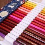 ONEGenug 48 trous sac à Crayons en toile Sac à stylos Trousse, Roll Up Étui à Crayons, Fournitures d'artiste, Sac de crayons de couleur pour la peinture, l'écriture, le dessin, la coloration, l'esquis de la marque ONEGenug image 4 produit