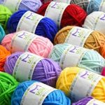 Pack premium de pelotes de laine mini - 24x10g pelotes de laine en acrylique – 20 mètres de longueur par pelote – Idéales pour tous les mini projets de crochet et de tricot de la marque Mira Handcrafts image 4 produit