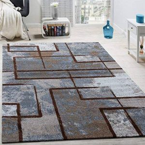 Paco Home Tapis Design Moderne Poils Ras Abstrait Peintures Effet Brun Beige Crème, Dimension:120x170 cm de la marque Paco Home image 0 produit