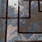 Paco Home Tapis Design Moderne Poils Ras Abstrait Peintures Effet Brun Beige Crème, Dimension:120x170 cm de la marque Paco Home image 2 produit