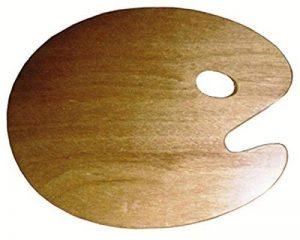 Palette ovale en bois 25x30cm - épais. 3mm - Bois - Oz international de la marque Oz International image 0 produit