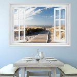 PAPIER PEINT PHOTO ,,Beach Window 2T1' 127cm x 183cm mer dune colle inclu MURAL Tableaux muraux déco XXL de la marque livingdecoration image 3 produit