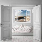 PAPIER PEINT PHOTO ,,Beach Window 2T1' 127cm x 183cm mer dune colle inclu MURAL Tableaux muraux déco XXL de la marque livingdecoration image 4 produit