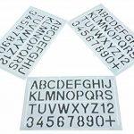 Parth Impex Lettre et nombre Pochoirs (lot de 3) numérique lettres de l'alphabet Peinture Dessin technique Template DIY Crafts projets de la marque PARTH IMPEX image 2 produit