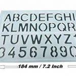 Parth Impex Lettre et nombre Pochoirs (lot de 3) numérique lettres de l'alphabet Peinture Dessin technique Template DIY Crafts projets de la marque PARTH IMPEX image 1 produit