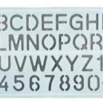 Parth Impex Lettre et nombre Pochoirs (lot de 3) numérique lettres de l'alphabet Peinture Dessin technique Template DIY Crafts projets de la marque PARTH IMPEX image 3 produit