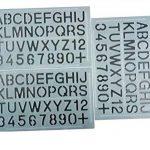 Parth Impex Lettre et nombre Pochoirs (lot de 3) numérique lettres de l'alphabet Peinture Dessin technique Template DIY Crafts projets de la marque PARTH IMPEX image 4 produit