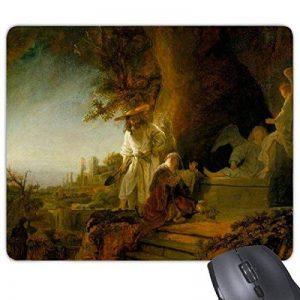 Paysage Peinture à l'huile Rembrandt Harmenszoon van Rijn Guin (célèbre Huile écoles d'Impressionnisme Panintings huiles rectangle en caoutchouc antidérapant Tapis de souris de jeu Tapis de souris de la marque DIYthinker image 0 produit