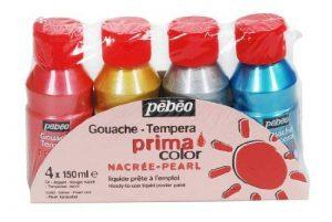 Pébéo 055591 Primacolor Nacrée Pack de 4 Flacons de 150 ml de la marque Pébéo image 0 produit