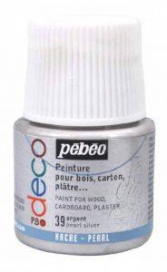 Pébéo 285039 Déco Acrylique 1 Flacon Argent 45 ml de la marque Pébéo image 0 produit