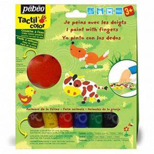 Pébéo Kit gouache de peinture aux doigts Les animaux de la ferme 6 tubes 20 ml Assorties de la marque Pébéo image 0 produit