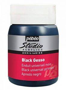 Pébéo Peinture Acryliques Noir 1 Pot de 500 ml de la marque Pébéo image 0 produit