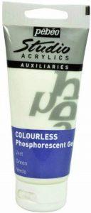 Pébéo Peinture Gel Phosphorescent Studio, Tube de 100 ml Couleur Non Teinté Vert de la marque Pébéo image 0 produit