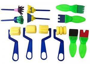 Peachy Keen Crafts Brosse en Mousse pour Enfants - Set de 12 - Fun Eponge en Forme - Pinceau pour Enfants Arts et Métiers de la marque Peachy Keen Crafts image 0 produit