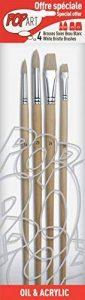 Pébéo 950850 Pochette de 4 Pinceaux Rond Soies Beau Blanc de la marque Pébéo image 0 produit