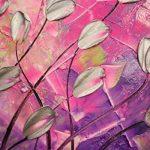 peinte à la main Paysage abstrait Palette Tulipes sur vert bleu violet rose murale de peinture à l'huile sur toile Salon Art, Toile, bleu/vert, 24x48inch(60x120cm) de la marque Orlco Art image 2 produit