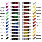 Peinture acrylique 24 Set by Crafts 4 All® Pour le papier, la toile, le bois, la céramique, le tissu et l'artisanat.Non toxique et les couleurs vibrantes.Rich Pigments avec une qualité durable - Pour les débutants, étudiants et professionnels artiste de l image 1 produit