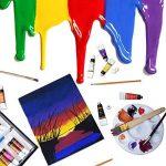 Peinture acrylique 24 Set by Crafts 4 All® Pour le papier, la toile, le bois, la céramique, le tissu et l'artisanat.Non toxique et les couleurs vibrantes.Rich Pigments avec une qualité durable - Pour les débutants, étudiants et professionnels artiste de l image 2 produit