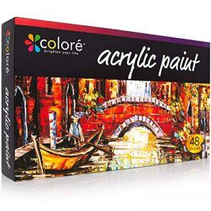 Peinture acrylique COLORE VIBRANT LIFE (Set de 48 tubes de 22ML) avec technologie VibrancePro Rich Pigments de la marque Colore image 0 produit