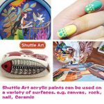 Peinture acrylique, Shuttle Art 16 x12ml (0,4 oz) tubes artiste qualité non toxiques pour les enfants adultes de pigments de couleurs riches en argile peinture sur toile bois professionnel tissu ceram de la marque Shuttle Art image 6 produit