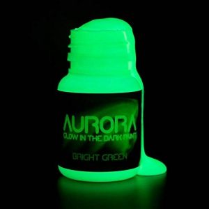 Peinture brillante dans le noir (20ml) Aurora vert brillant, non-toxique, à base d'eau par SpaceBeams de la marque SpaceBeams image 0 produit