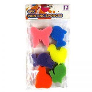 Peinture des éponges pour Enfants - Formes Animales - Lot de 6 de la marque Pennine image 0 produit