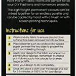 Peinture pour Tissus et Vêtements Mont Marte – Pack de 8 Couleurs Rouge Blanc Noir Bleu Jaune Violet Vert et Rose x 20ml – Peinture Permanente sur tout Type de Textile, Utilisation Idéale pour Personnaliser vos T-shirts et Accessoires de la Maison de la m image 2 produit