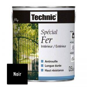 Peinture Spécial Fer - Noir Brillant - 0.5 L - TECHNIC 124578D de la marque Technic image 0 produit