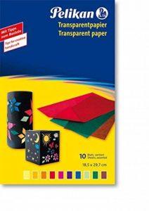 Pelikan Lot de 10 Feuilles de papier transparent non gommé 29.7 x 18.5 cm Couleurs Assorties de la marque Pelikan image 0 produit