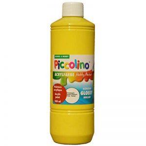 PICCOLINO Hobby Paint - Couleur peinture acrylique brillante - flacon de 500ml, Jaune primaire de la marque Piccolino image 0 produit