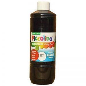 PICCOLINO Hobby Paint - Couleur peinture acrylique brillante - flacon de 500ml, Noir de la marque Piccolino image 0 produit