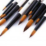 Pinceaux de Peinture, Wartoon 12 Pièces Brosses Pinceaux pour Aquarelle, l'Acrylique - Blanc de la marque Wartoon image 1 produit