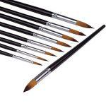 Pinceaux de Peinture -- ZWOOS 9pcs Brosse de Peinture Pinceaux pour Artistes Aquarelle et Peinture à l'huile Art Matériel de Peinture de la marque ZWOOS image 5 produit
