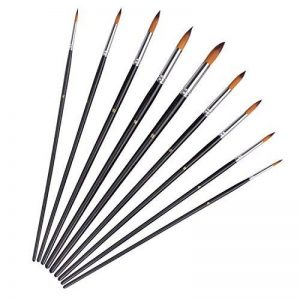 Pinceaux de Peinture -- ZWOOS 9pcs Brosse de Peinture Pinceaux pour Artistes Aquarelle et Peinture à l'huile Art Matériel de Peinture de la marque ZWOOS image 0 produit