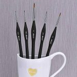 Pinceaux en Détail Pinceaux pour Nail Art Huile & Peinture Pinceaux, 5 Pièces (Noir) de la marque eBoot image 1 produit