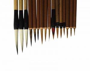 Pinceaux professionnels de la Chine pour la calligraphie et la peinture avec 16 ensembles de la marque diandiandidi image 0 produit