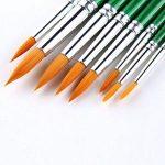 PIXNOR 12pcs Rond Bout Pointu Peinture Pinceaux Art Ensemble pour Peinture Aquarelle Acrylique Huile de la marque Pixnor image 3 produit