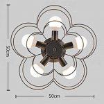 , Plafond Creative nordique Petit salon chambre Fer Personnalité Plafond Led lanterne Prune Étude Art Xiangyun E27 Lampe de plafond facile à nettoyer (Couleur: noir) de la marque EQEQ image 2 produit