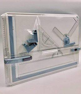 Planche à Dessin A3, Table à Dessin, Drawing Board Table, Drawing Board Metric System avec Mouvement Parallèle, Angle Réglable, KioiKioi de la marque KioiKioi image 0 produit