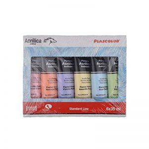 Plascolor PP182 Pack de 6tubes de peinture acrylique Assortiment de couleurs de la marque Plascolor image 0 produit