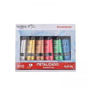 Plascolor PP184 Pack de 6tubes de peinture acrylique Assortiment de couleurs de la marque Plascolor image 0 produit