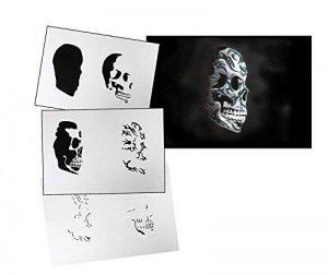 pochoir aérographe skull TOP 2 image 0 produit