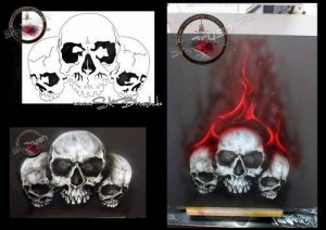 pochoir aérographe skull TOP 5 image 0 produit