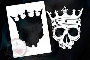 Pochoir pour aérographe motif crâne/tête de mort-skull's de la marque SK-Brush image 0 produit